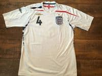 Classic Football Shirts | 2007 England Gerrard Vintage Old Soccer Jersey